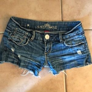 Slightly Distressed Jean shorts